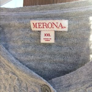 Sweaters - Morons textures light gray sweater.